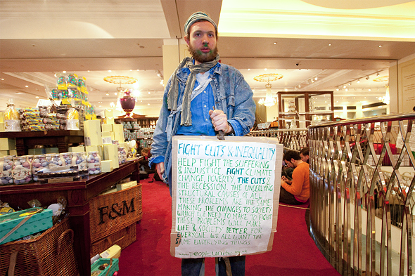 Fortnum & Mason protesters prosecuted.